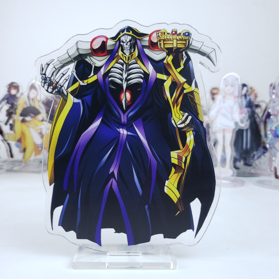 Japanese Anime Overlord Ainz Ooal Gown Albedo Shalltear Hamusuke Acrylic Stand Figure Decoration Cosplay Desk Decor Gift 15cm