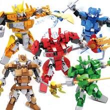 COGO Super Warrior Figures Educational Building Blocks 3 IN 1 Model DIY Assembly Bricks Set Toys For Children Kids Brinquedos