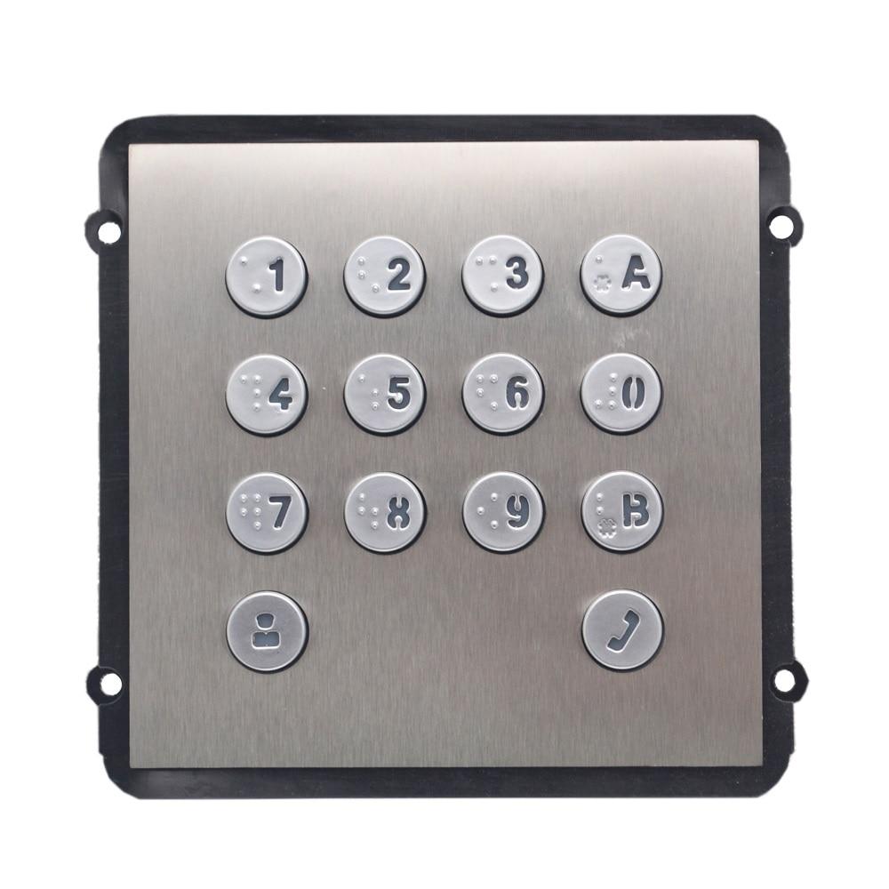 VTO2000A-K klaviatuurmoodul VTO2000A-C jaoks, IP-uksekella osad, video-intercom-komponendid, pääsukontrolli osad, uksekella osad