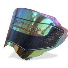 Moto Completa Viso Casco Modulare Alette Parasole Protegge Lente di Ricambio Accessorio 3 olori per casco SYT-716