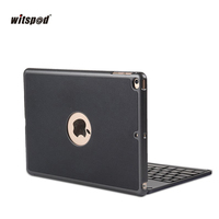 Ultra Thin Folio Shell ABS Wireless Bluetooth For IPad Air 2 With Backlit Keyboard Stand Case