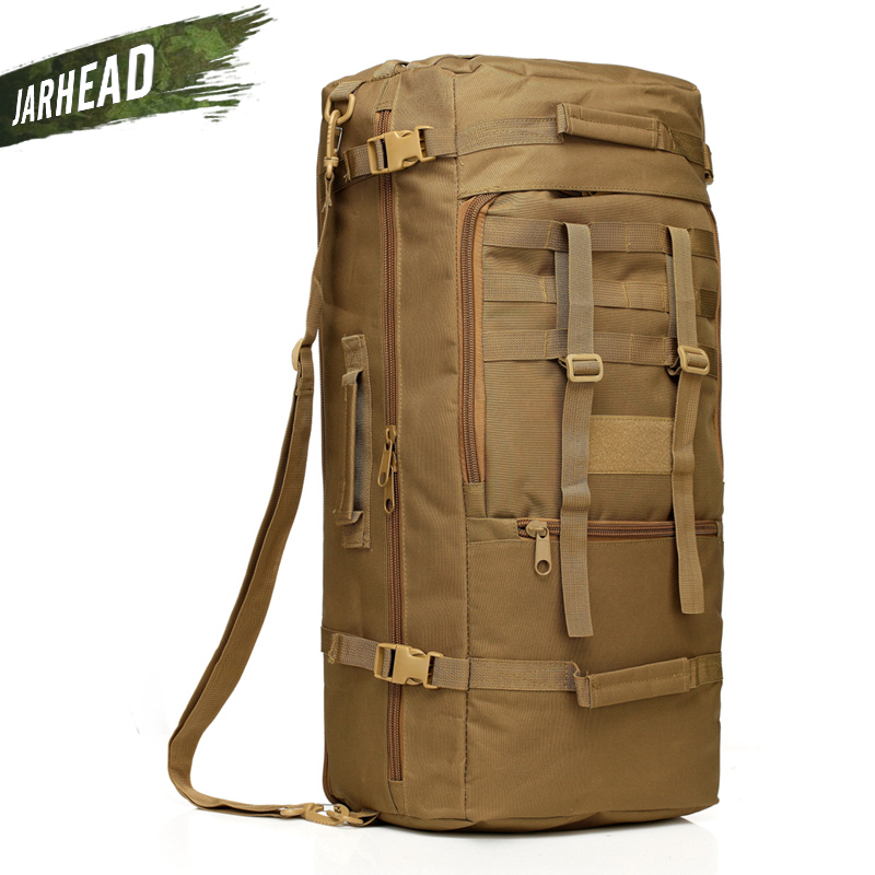 60L Outdoor Tactical Backpack Camping Rucksack Waterproof Mountaineering Hiking Knapsack Molle Sport Bag Climbing Backpack