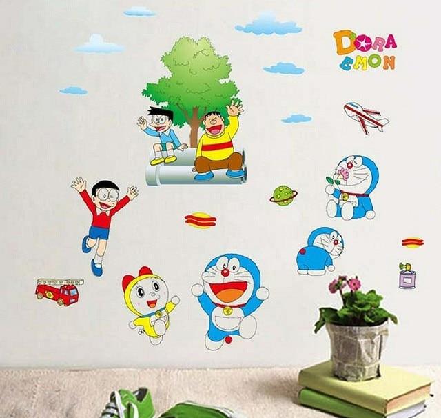 good quality cartoon wall sticker doraemon for baby room vinyl wall