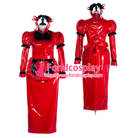 Sissy maid pvc dress lockable Uniform cosplay costume Tailor-made[G2304]