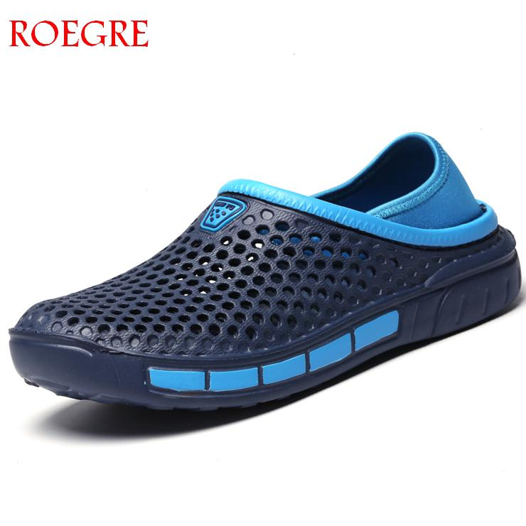 New Comfortable Large Size Men Pool Sandals Summer Outdoor Beach Shoes Men Slip On Garden Clogs Casual Water Shower Slippers