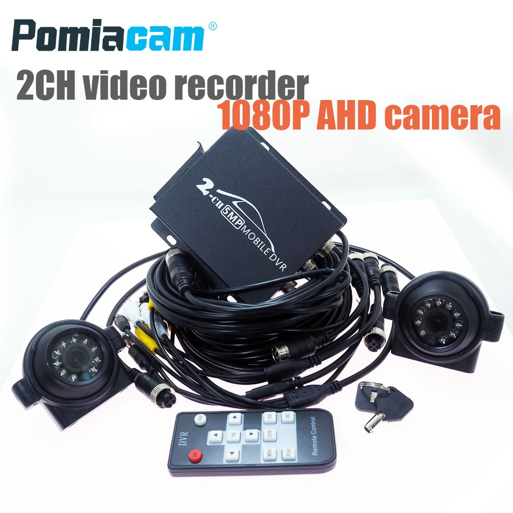 T782 2ch CCTV System 2channel DVR KIT 1080P Video Recorder with 1080P AHD camera Security Camera car Surveillance HDMI