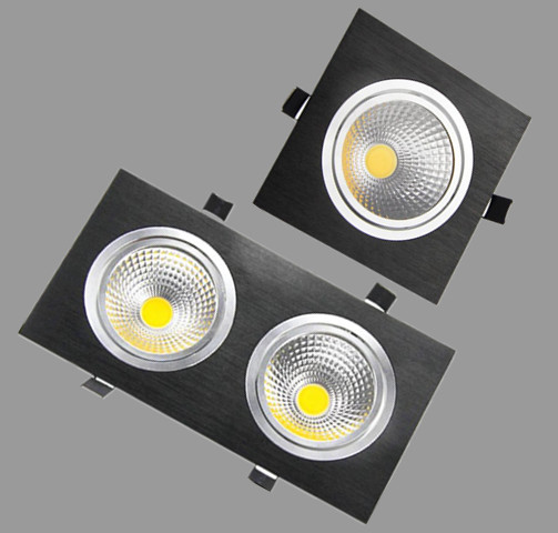 1Pcs 5w 7w 10w 20w AC85V-265V 110V / 220V LED dimmējams Griestu kvadrātveida cob Downlight Iegremdēta LED sienas lampa Spot gaismas LED spuldze