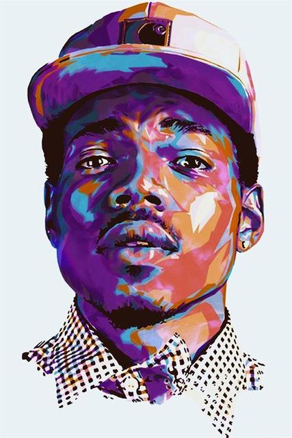 Custom Canvas Wall Decor Painting Chance The Rapper Poster Stickers Office Mural