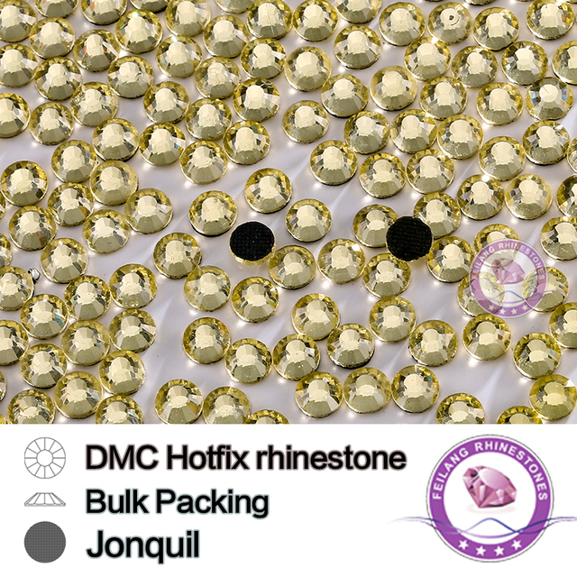 Jonquil SS6 SS10 SS16 SS20 SS30 Bulking Packing HotFix Rhinestone For Garments Bags And Shoes
