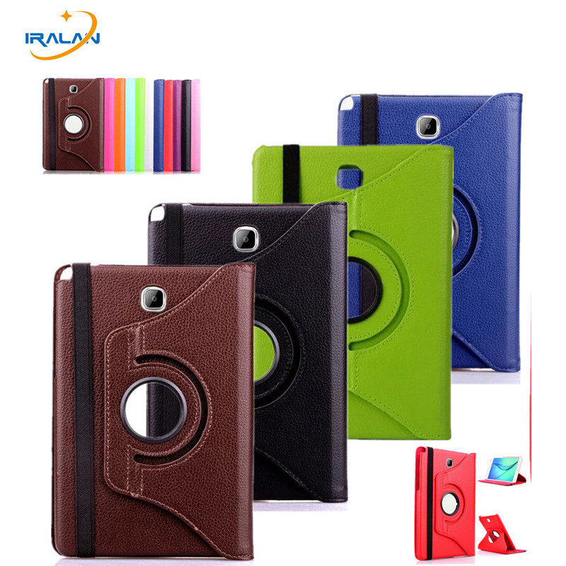 New 360 Rotating litchi pattern Case For Samsung Galaxy Tab A 8.0 T350 T351 T355 P350 Tablet PC PU Leather Stand Cover+Stylus print pu leather case cover for samsung galaxy tab a 8 0 t350 t351 sm t355 tablet cases for samsung t355 p355c p350 8 inch