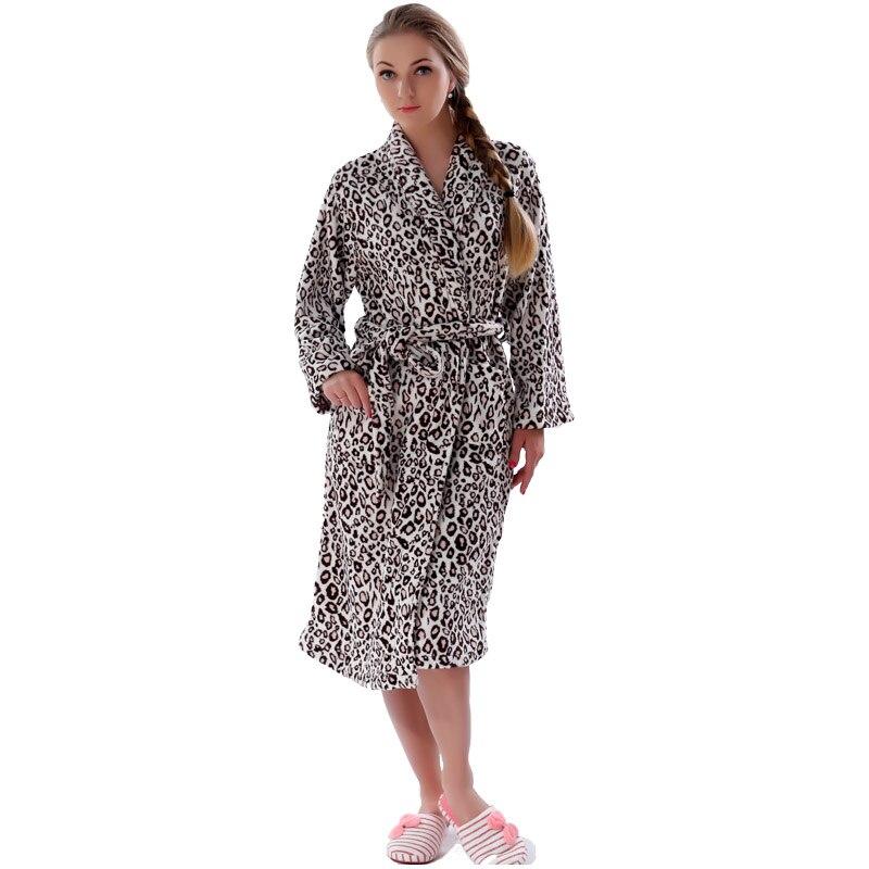 Aliexpress.com : Buy Women Plus Size Leopard Coral Fleece Warm ...