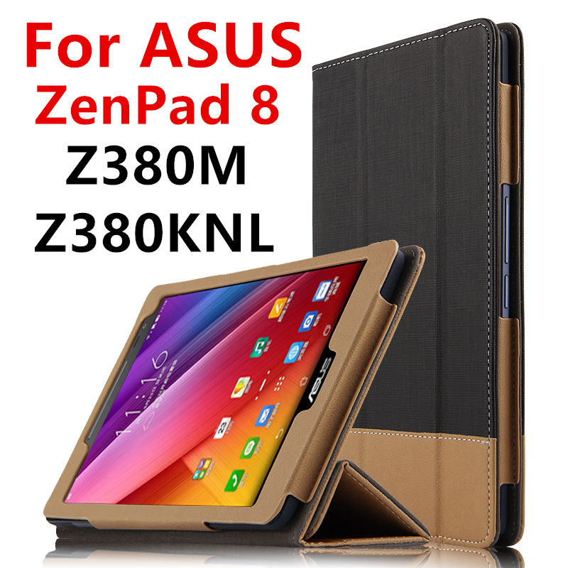 Case For ASUS ZenPad 8.0 Z380M Protective Smart cover Leather Tablet For ASUS ZenPad 8 Z380KNL Z380C Z380KL PU Protector Sleeve чехол asus для планшетов zenpad 8 pad 14 полиуретан поликарбонат белый 90xb015p bsl320