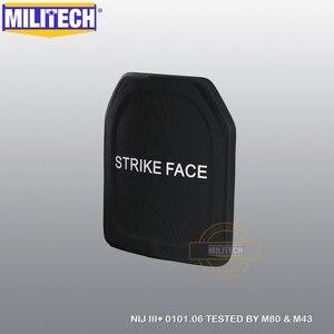 Image 2 - لوحة الباليستية لوحة مضادة للرصاص NIJ III + 0101.06/NIJ 0101.07 RF1 بيور بي 10x12 بوصة 2 قطعة M80 & AK47 & M193 درع للجسم العسكرية