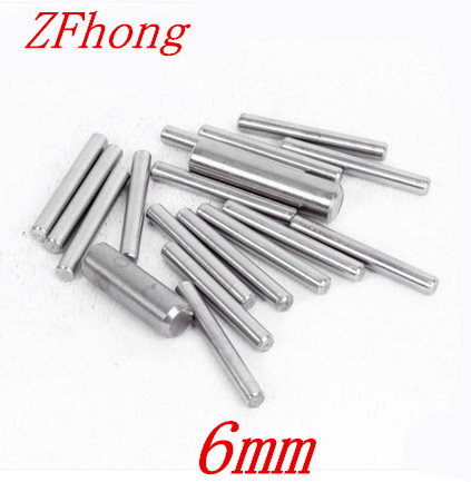 20pcs M6*8/10/12/16/20/25/30/5/40/45/50/60/70/80 6mm Stainless Steel Dowel Pin Location Pin Stop Pin Length 3mm To 10mm