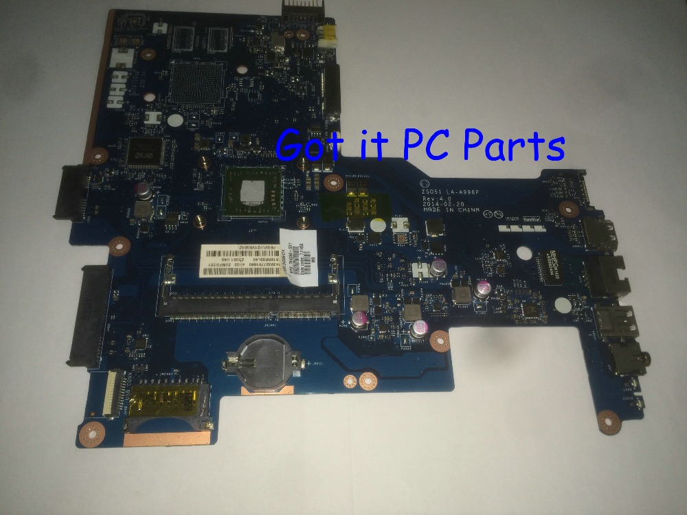 FREE SHIPPING + NEW Laptop motherboard ZSO51 LA-A996P REV : 4.0 suitable for HP 15-G notebook pc