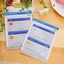 Novelty Windows System Prompt design Memo Notepad/Writing scratch pad/message note/Students' gift prize/office school supplies