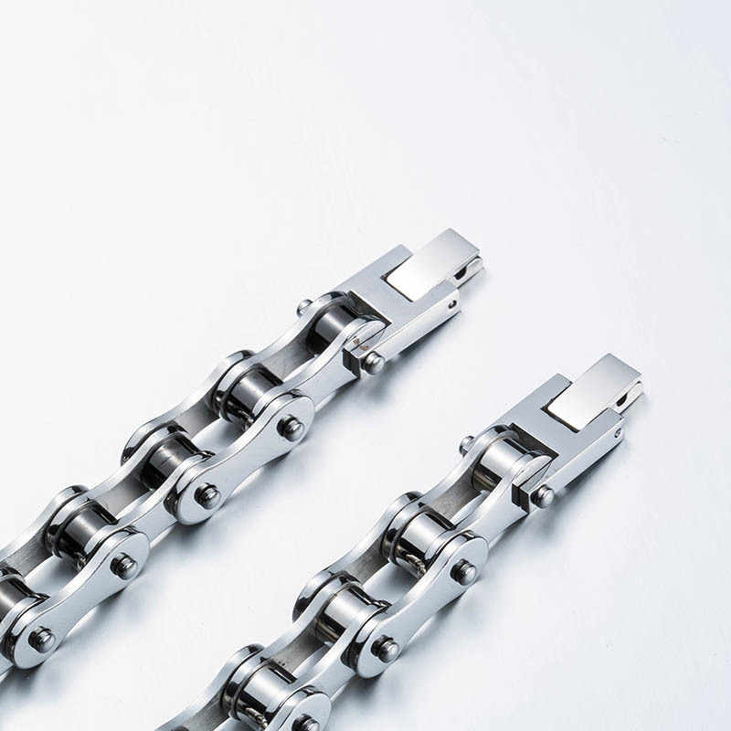 PUNK Biker stal nierdzewna 316L moda męska biżuteria rower łańcuch rowerowy bransoletka biżuteria BR-C012