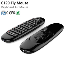 Gyroscope Fly Air Mouse C120 Wireless Game Keyboard Android Remote Controller Rechargeable 2.4Ghz Keyboard for Smart Tv Mini PC