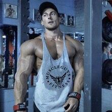 Muscleguys/брендовая одежда для фитнеса и бодибилдинга, майка для мужчин, Спортивная майка Стрингер, хлопковая майка без рукавов, мужская майка для тренировок