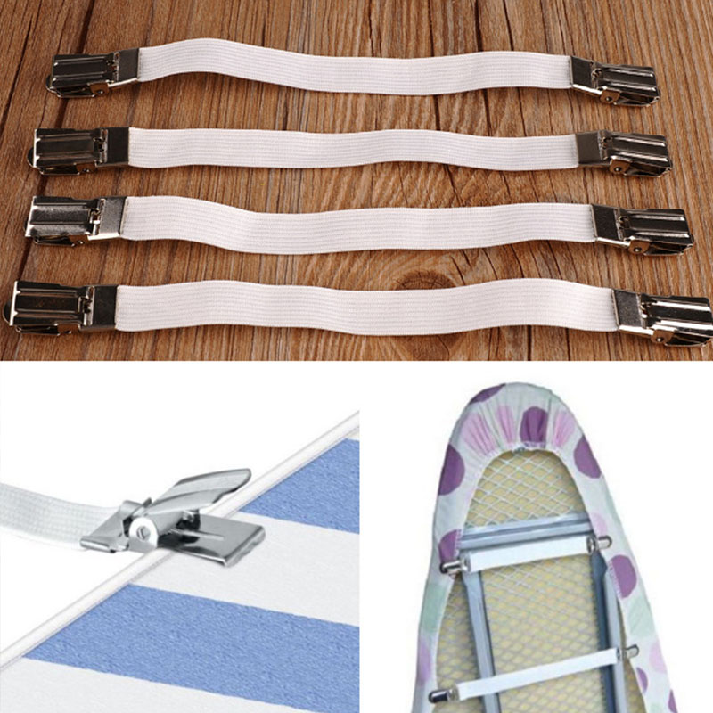 Nylon Elastic Band Ironing Board Cover Sofa Clip Fasteners Bedspread Non Slip Band Tablecloths Buckle Holder Cushion Tools
