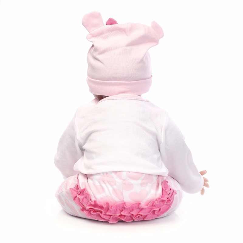 45 см/55 см силиконовые куклы reborn восхитительные реалистичные куклы новорожденных Модная кукла Рождественский подарок на Новый год реквизит для фотографии