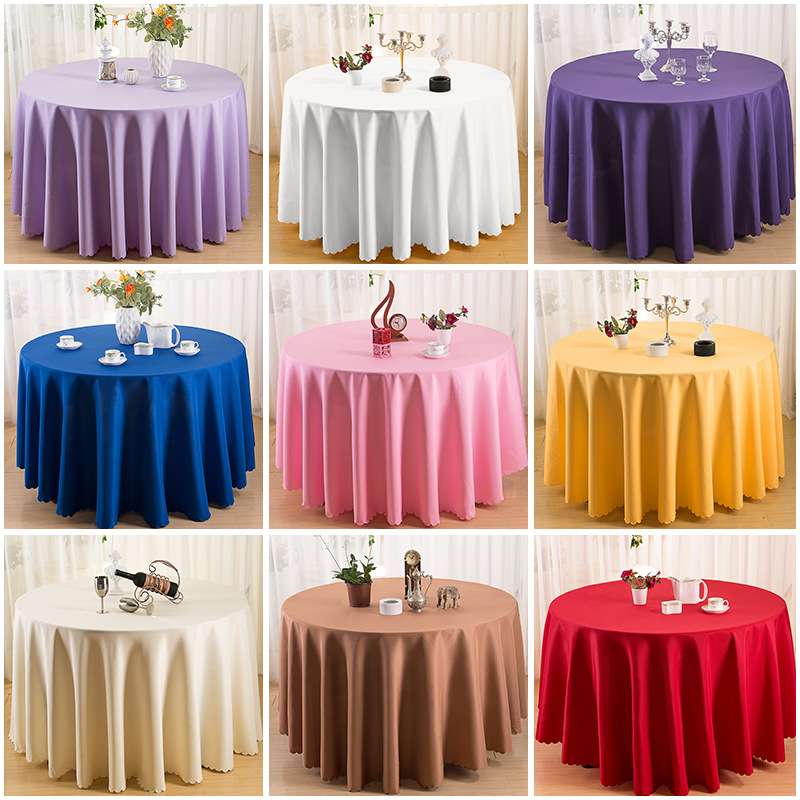 100 high quality polyester round tablecloth dining table cloth for hotel office wedding home decoration