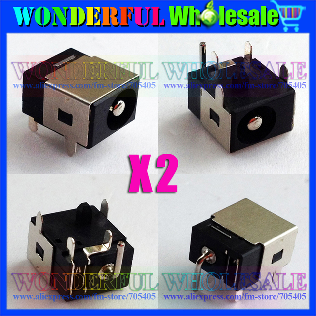 2x New Power DC Jack Connector Socket fit for Asus UL30 UL30A UL30VT UL30JT N10 N10J N10E 2.5mm