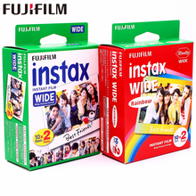 Genuine 40 Sheets Fujifilm Instax Wide White edge + Rainbow Film for Fuji Instant Photo paper Camera 300/200/210/100/500AF