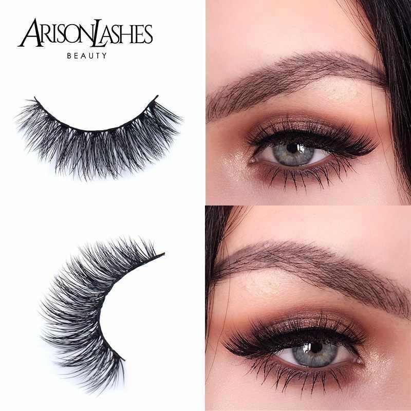 feb86b806f5 ARISON LASHES Hot Sale 15Style Fashion False Eyelashes Faux Cils Natural  Comfort 3D Fake Mink LASHES