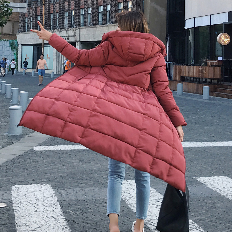6XL Plus Size Winter Clothes Long Coats Female Loose Coat Quilted Hooded Jacket Women Warm   Parka   Feminina Outerwear Snow Wear