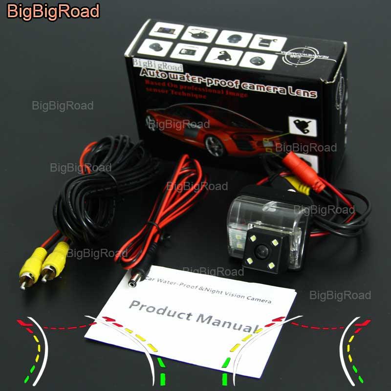 BigBigRoad voiture intelligente dynamique piste caméra de recul caméra de recul pour Mazda 6 2008/CX-5 CX 5 CX5 CX7 CX-7 CX 7