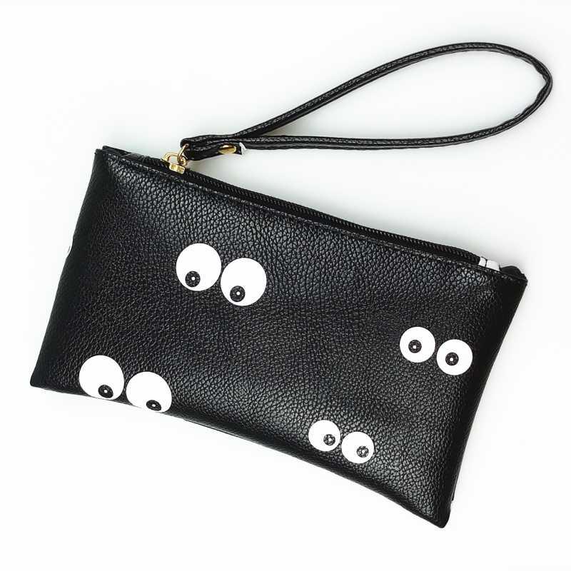 2018 موضة جديدة سوداء السوار حقيبة اليد الفتيات بولي Leather جلد صغير طويل محفظة نسائية للعملات المعدنية حقائب مصمم المحفظة للنساء والرجال