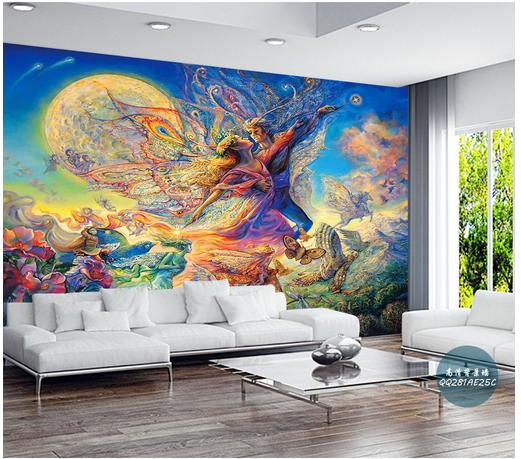 Custom wallpaper 3d wall murals wallpaper Myth hand painted wall of