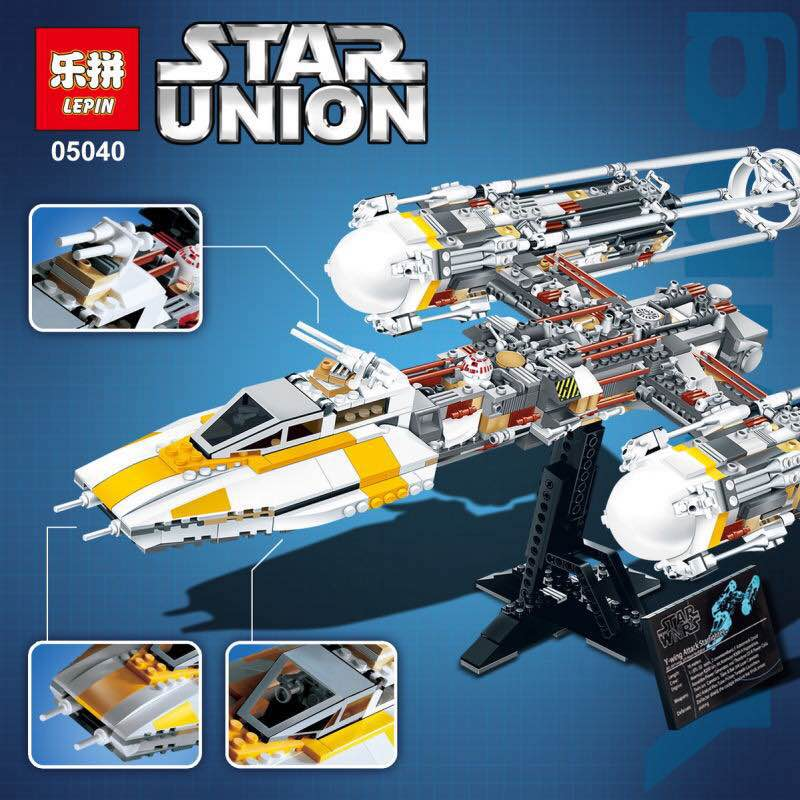 IN STOCK Lepin 05040 Y-wing Attack Starfighter Building Block Assembled brick Star Series Toys Compatible with 10134 for wars new lepin 05040 y wing attack starfighter building block assembled brick series toys compatible legoed with 1013