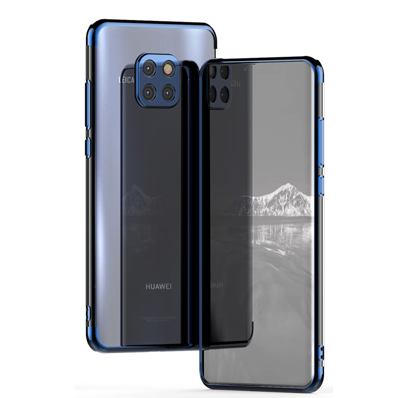 Huawei Mate 20 Pro Case Cover Luxury Transparent Ultra Thin Plating TPU Back Cover For Huawei Mate20 20X 20RS Case Phone Coque