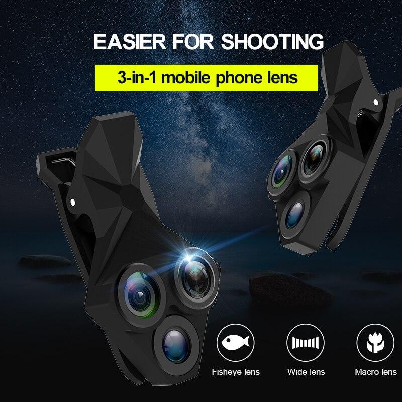 APEXEL kedatangan Lensa Kamera Kit 3 in 1 Fisheye Lens Wide Angle - Aksesori dan suku cadang ponsel - Foto 6