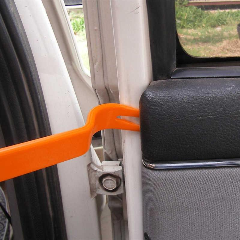 車のドアツールツール室内プラスチックトリムパネルダッシュボードラジオインストール除去 MultPry 2 個車両ステレオ修理されたツールキット
