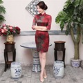 Free Shipping Top Quality Short Sleeve Qipao Dress Chinese Traditional Clothing Short Cheong-sam Dress For Women's China Dress