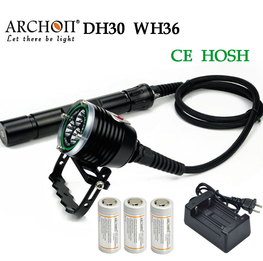 100% Original Archon DH30 WH36 Cree XM-L U2 Canister Snorkeling Scuba Diving LED Headligh цена