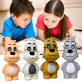 "Creative ABS Glass Dog Table Lamp Light L:11cm/4.3"" H:27cm/10.6"" PERFECT PRODUCT 4 Colors Choices 2016 Hot New Modern LED Lamp"