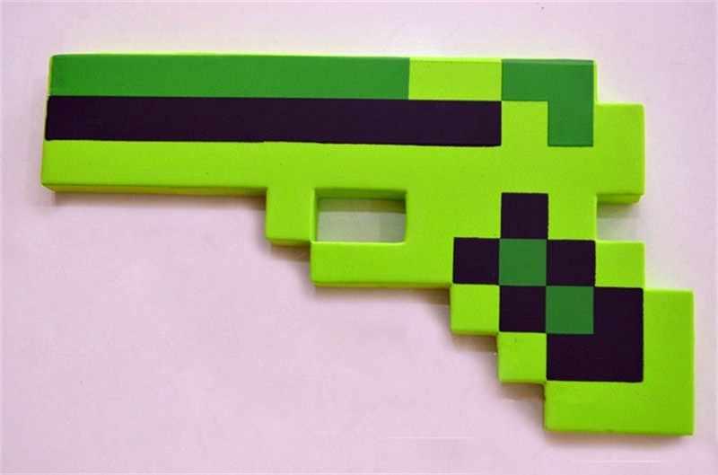 1 шт. игрушки Minecraft Пена меч, киркомотыга пистолет игрушки Minecraft игровое оружие EVA фигурку модель игрушка для детей аксессуары для игр на улице