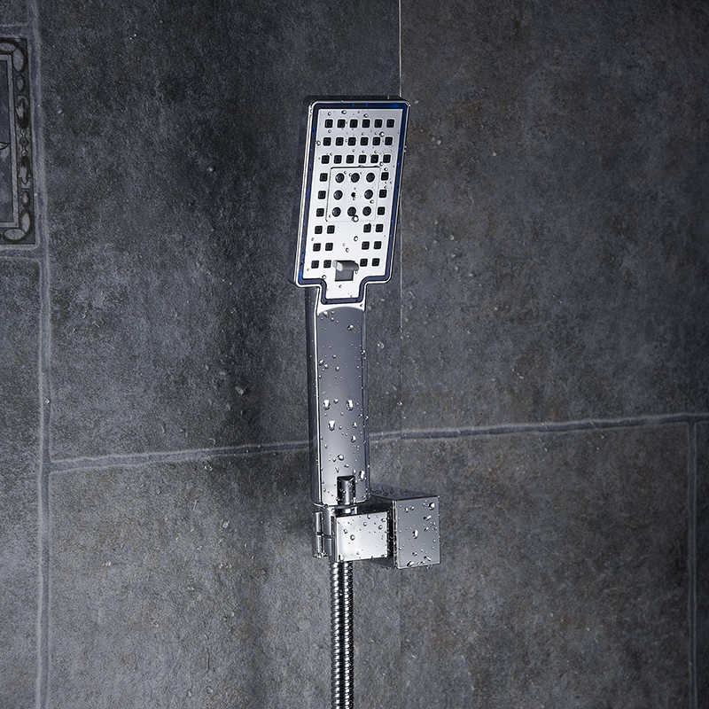 Shower Heads ABS Plastic Wall Mounted Rainfall Top Shower Head ...