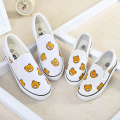 WENDYWU 2017 bear cartoon parent-child shoes parental casual shoes for kids boys girls sneakers for children flats fashion shoes
