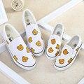 Wendywu 2017 urso dos desenhos animados pai-filho shoes parental casual shoes para crianças meninos meninas sapatilhas para crianças flats moda shoes