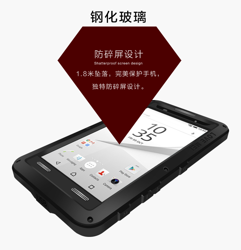 Love Mei Waterproof <font><b>Case</b></font> For <font><b>Sony</b></font> <font><b>Xperia</b></font> <font><b>Z5</b></font> E6603 <font><b>E6653</b></font> Shockproof Aluminum For <font><b>Xperia</b></font> <font><b>Z5</b></font> Dual Sim E6633 E6683 <font><b>Cases</b></font> Phone Cover image