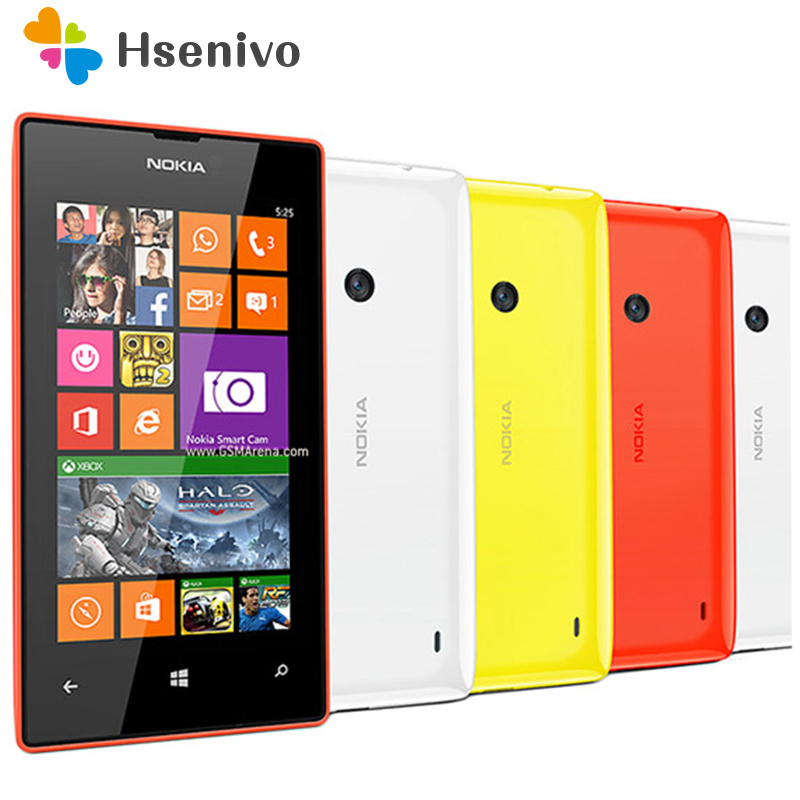 Hot Original Nokia Lumia 525 Unlocked Nokia 525 Windows mobile phone dual core 4'' IPS 8GB 5.0MP one year warranty Refurbished image
