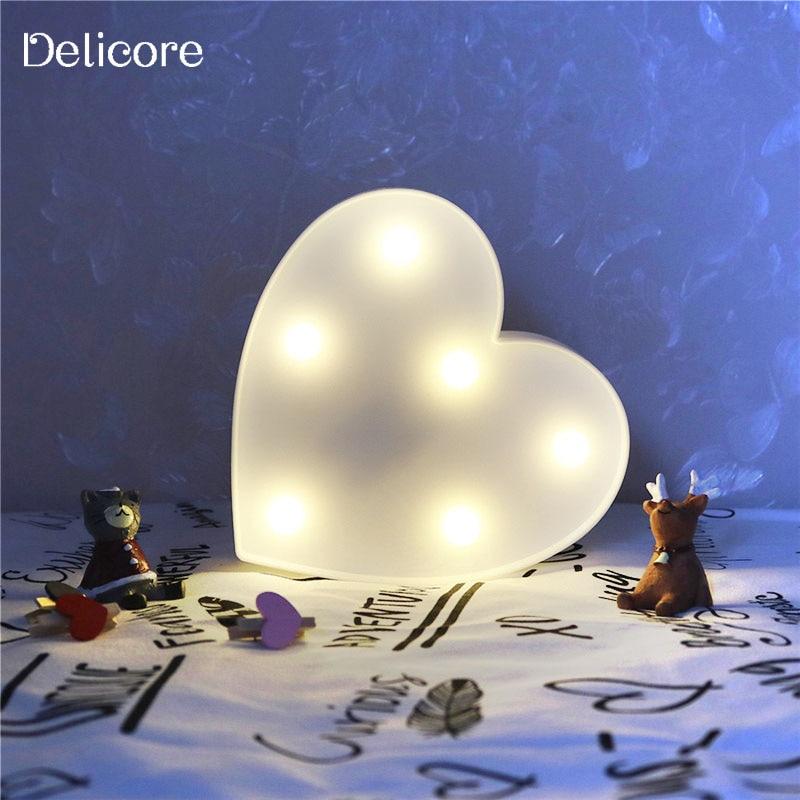 Luzes da Noite delicore novo coração romântico lâmpadas Marca : Delicore