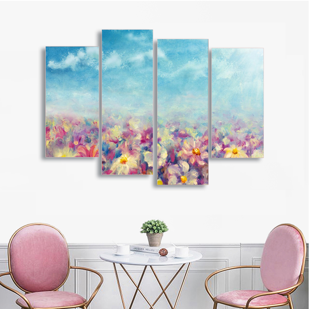 Laeacco Canvas Paintings Calligraphy Graffiti Floral Posters And Prints Abstract Wall Art For Living Room Home Decor Pictures