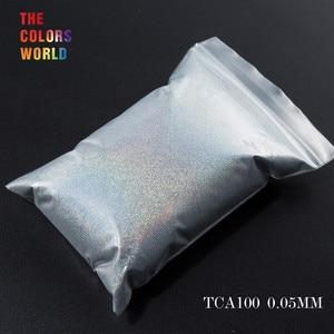 Image 1 - TCT 069 24 najlepsze 0.05MM rozmiar holograficzny kolor najmniejszy rozmiar brokatowy proszek do paznokci, Tatto artystyczna dekoracja makijaż diy farba