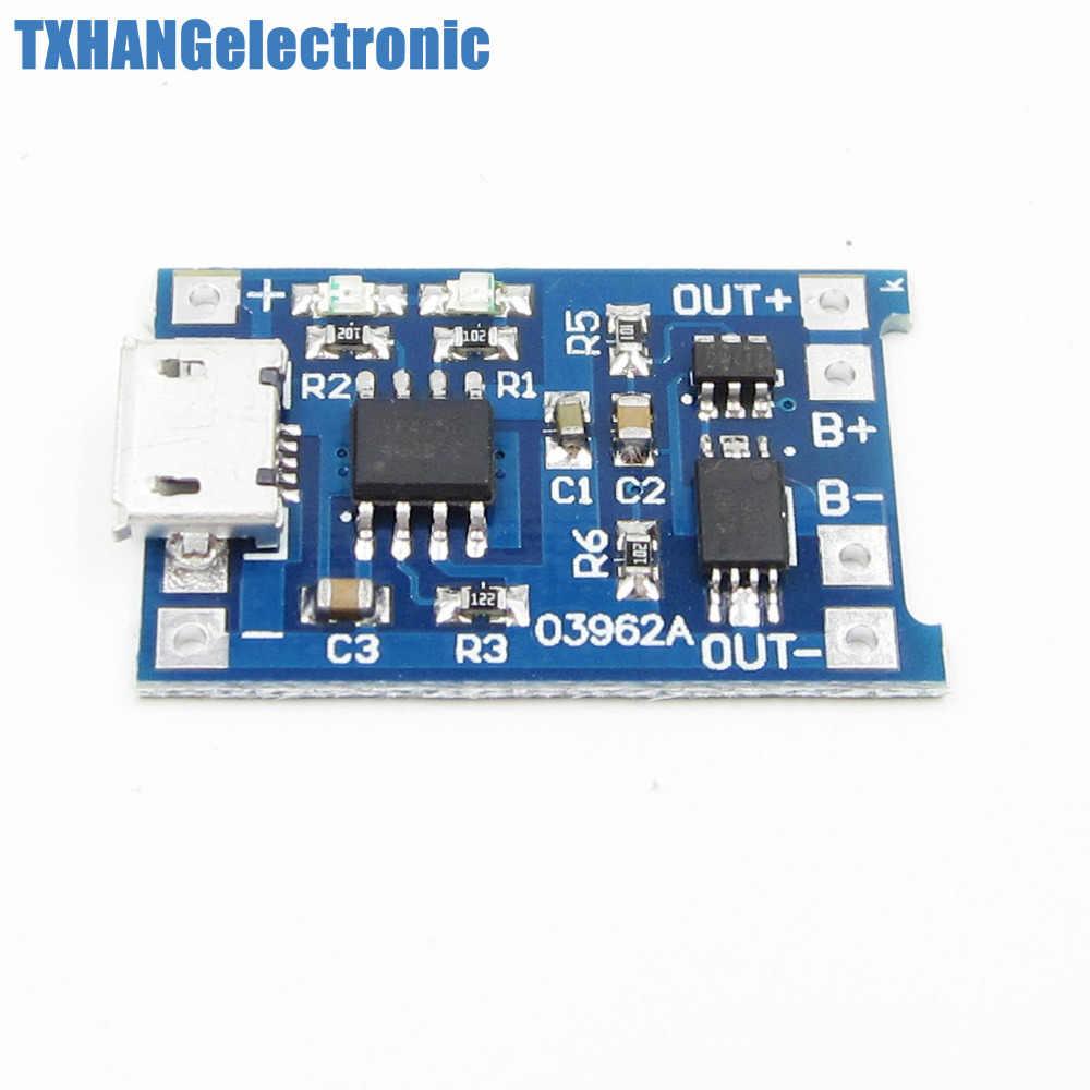 2 قطعة المصغّر USB 5V 1A 18650 TP4056 ليثيوم شاحن بطارية وحدة شحن مجلس مع المزدوج وظائف